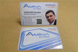 بطاقة اسم الشركة prining عينة من طابعة uv سطح المكتب -A2 الحجم WER-D4880UV