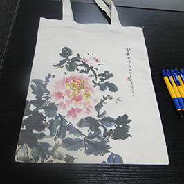 كيس قماش الطباعة عينة من قبل A2 تي شيرت طابعة WER-D4880T