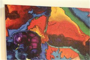 عينة الطباعة قماش من WER-E2000UV