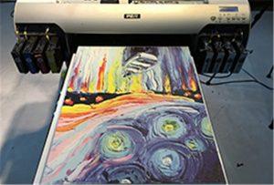 عينة قماش من A2 UV Printer WER-EH4880UV