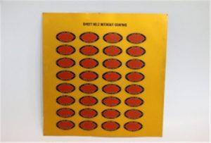 عينة الطباعة من الطابعة المعدنية على A3 UV WER-E2000UV