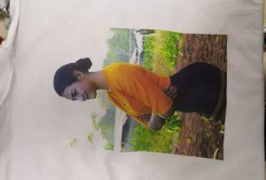 عينة الطباعة تي شيرت للعميل بورما من طابعة WER-EP6090T