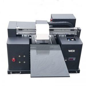 طباعة أبيض ولون الحبر نفس الوقت بسرعة سطح المكتب التدرج الرقمي المباشر إلى الملابس DTG T-shirt طابعة آلة الطباعة التي شيرت WER-E1080T